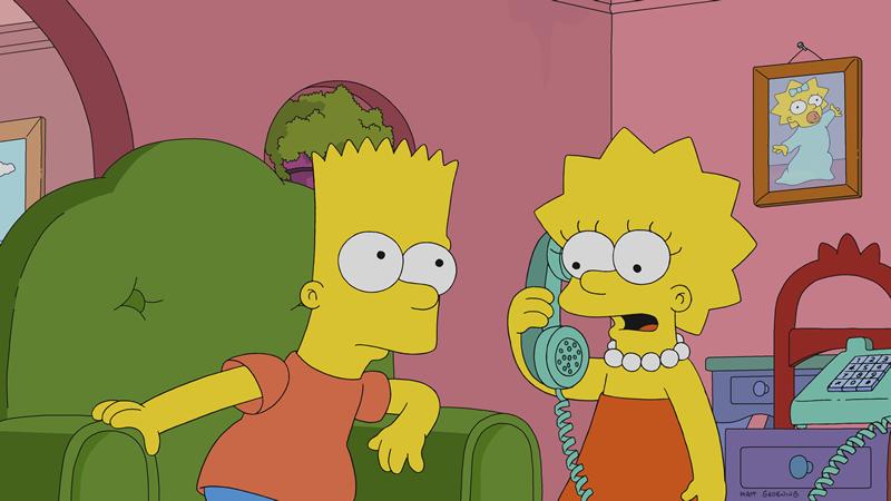 """Imagen promocional de la temporada 30 de Los Simpson: """"Heartbreak Hotel""""."""
