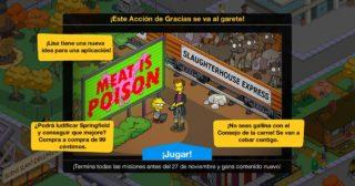 Nuevo minievento en Los Simpson: Springfield - ¡Este Acción de Gracias se va al garete!