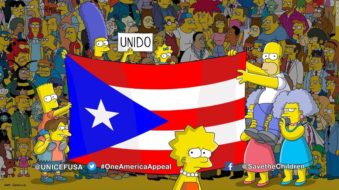Los Simpson con Puerto Rico
