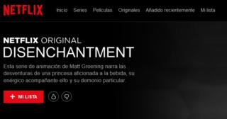 Disenchantment ya cuenta con sección en Netflix