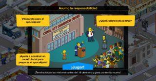 Nuevo minievento en Los Simpson: Springfield - Asumo la responsabilidad