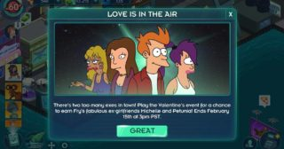 Nuevo minievento en Futurama: Mundos del Mañana - Love is in the Air