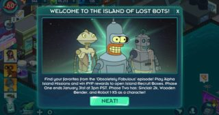 Nuevo evento en Futurama: Mundos del Mañana - The Island of Lost Bots