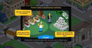 Nuevo minievento en Los Simpson: Springfield - Homer contra la decimoctava enmienda