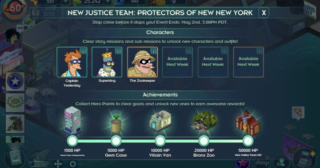 Nuevo minievento en Futurama: Mundos del Mañana - The New Justice Team
