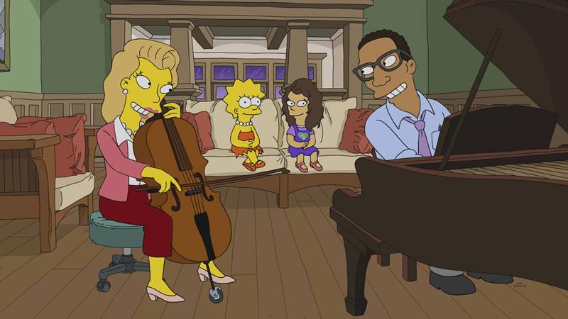 """Imagen promocional de la temporada 30 de Los Simpson: """"The Girl On The Bus""""."""