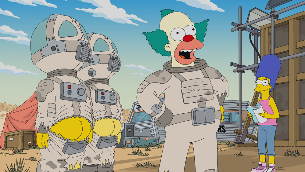 "Imagen promocional temporada 30 de Los Simpson: ""The Clown Stays In The Picture"""