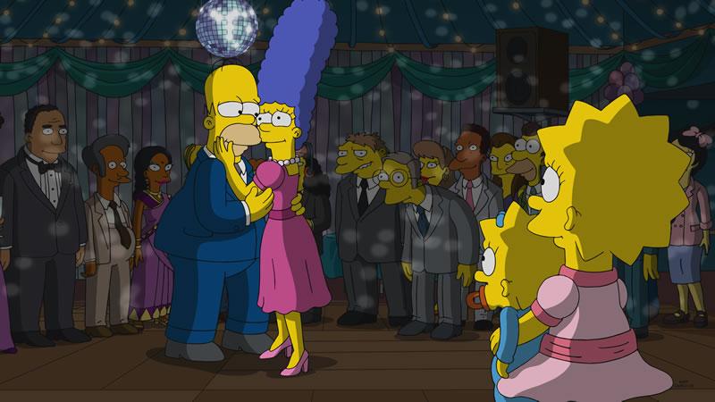 "Imagen promocional temporada 30 de Los Simpson: ""I'm Dancing As Fat As I Can"""