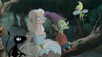 Una princesa, un elfo y un demonio entran en un bar