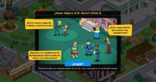 Nuevo minievento en Los Simpson: Springfield - ¿Quién disparó al Sr. Burns? (Parte 3)