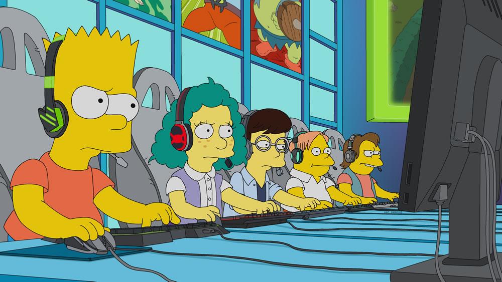 """Imagen promocional temporada 30 de Los Simpson: """"E My Sports"""""""