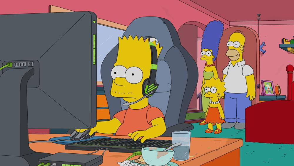 """Imagen promocional de la temporada 30 de Los Simpson: """"E My Sports"""""""