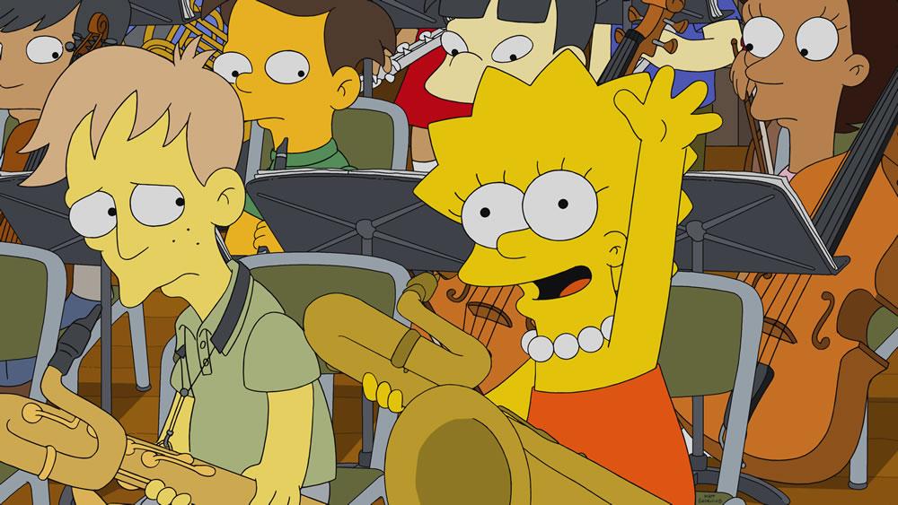 """Imagen promocional de la temporada 30 de Los Simpson: """"Girl's In The Band"""""""