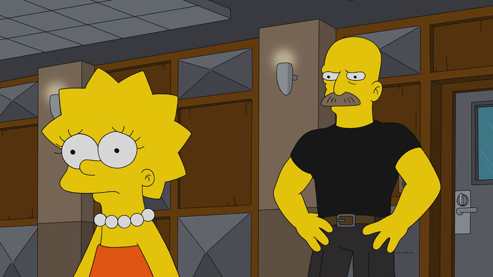 """Imagen promocional de la temporada 30 de Los Simpson: """"Girl's In The Band""""."""