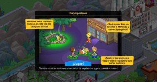 Nuevo minievento en Los Simpson: Springfield - Superpoderes