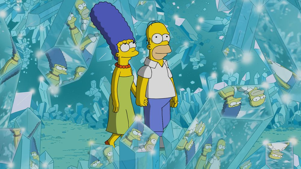 "Imagen promocional de la temporada 30 de Los Simpson: ""Crystal Blue-Haired Persuasion"""