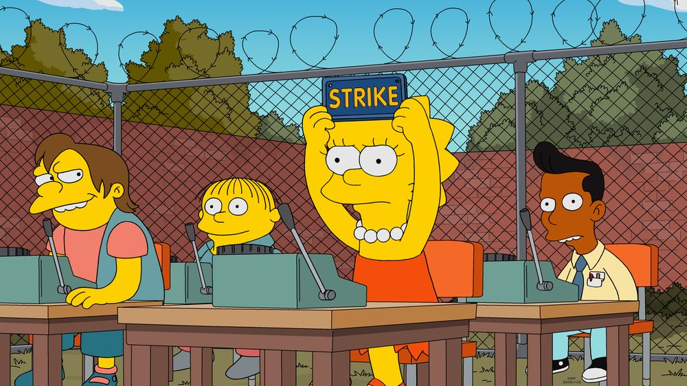 """Imagen promocional de la temporada 31 de Los Simpson: """"The Winter Of Our Monetized Content"""""""
