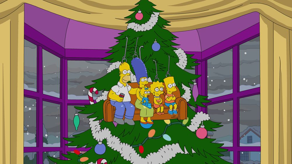 """Imagen promocional de la temporada 31 de Los Simpson: """"Bobby, It's Cold Outside"""""""