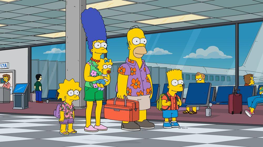 """Imagen promocional de la temporada 31 de Los Simpson: """"Livin' La Pura Vida""""."""