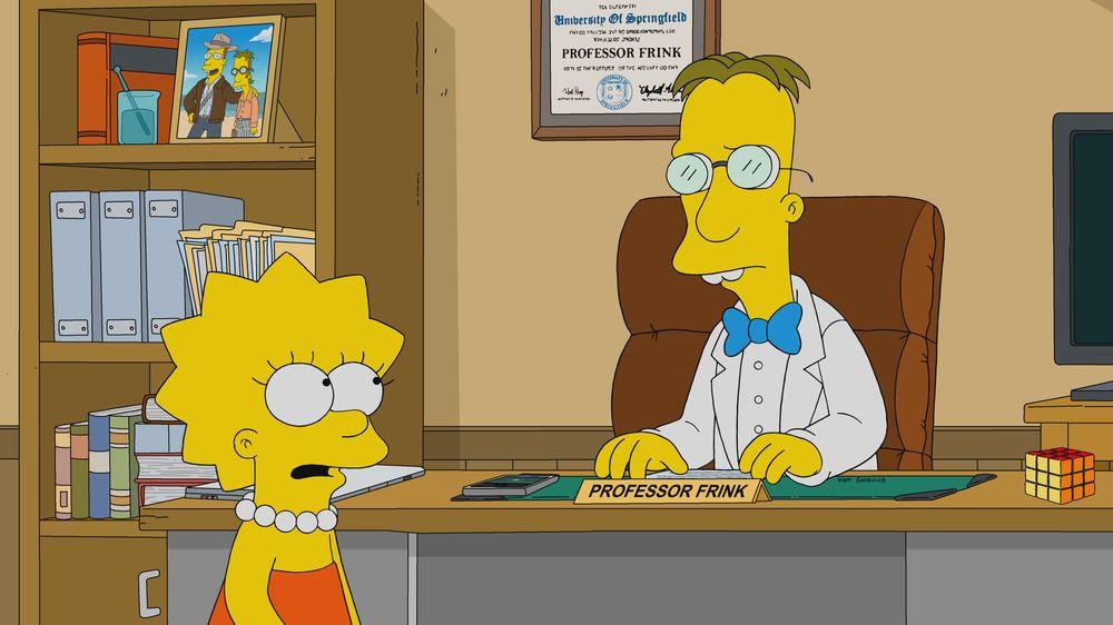 """Imagen promocional de la temporada 31 de Los Simpson: """"Frinkcoin""""."""