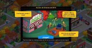 Nuevo minievento en Los Simpson: Springfield - Acción de Gracias de 2018