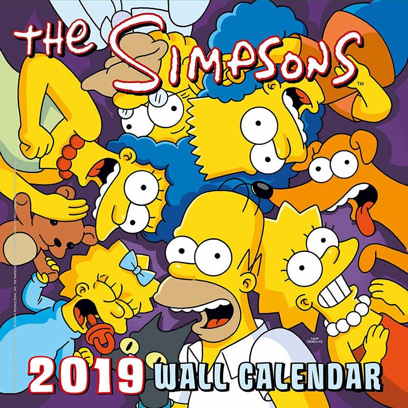 Calendario 2019 de Los Simpson