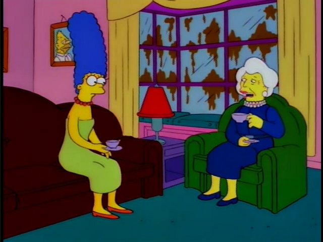 Marge Simpson y Barbara Bush