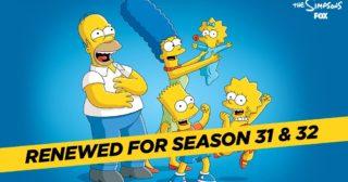 ¡Los Simpson, renovada para las temporadas 31 y 32!
