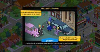 Nuevo minievento en Los Simpson: Springfield - Una reunión sin clase