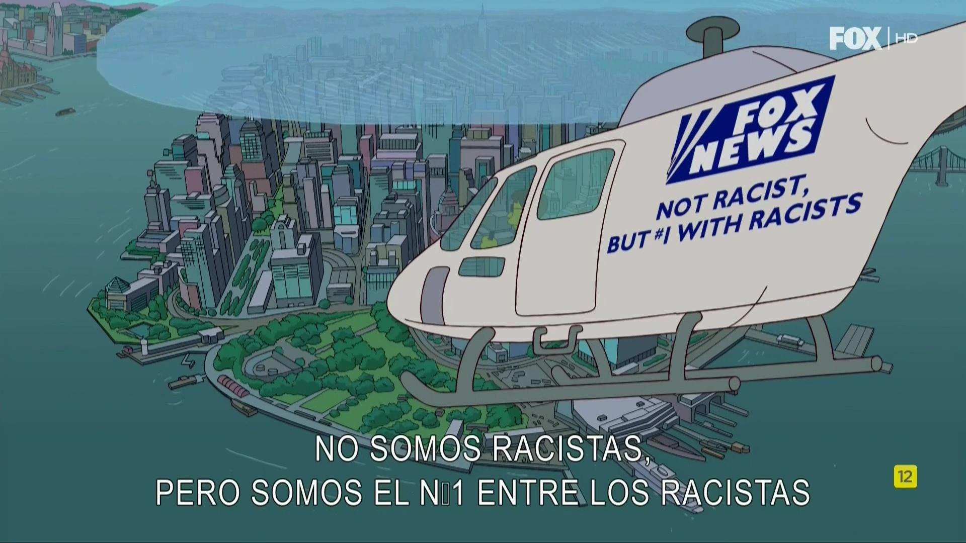 Los Simpson y el helicóptero de Fox News
