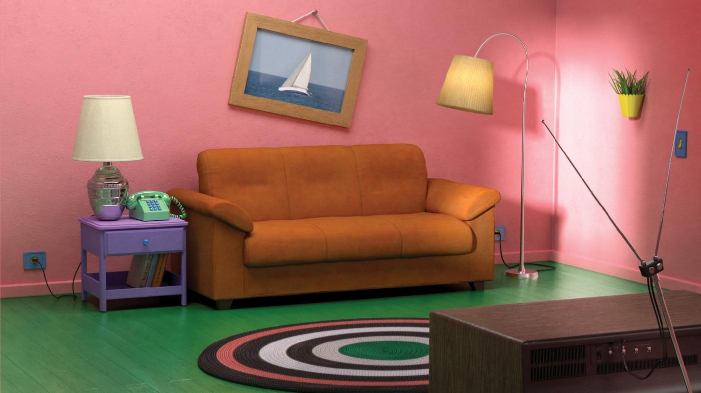 La sala de estar de Los Simpson recreada con muebles de IKEA