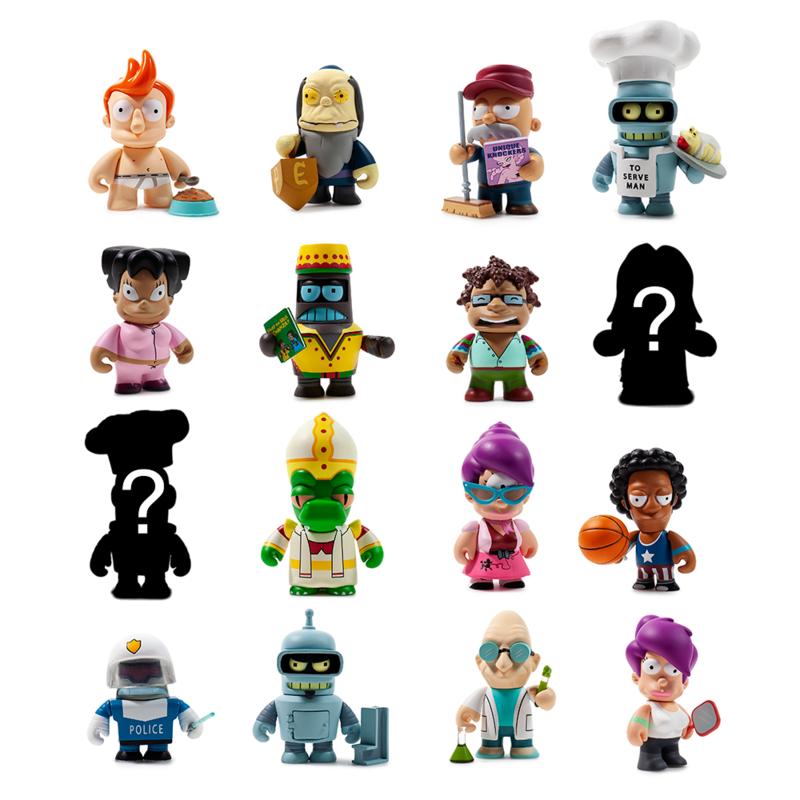 Figuras de Futurama de la marca Kidrobot