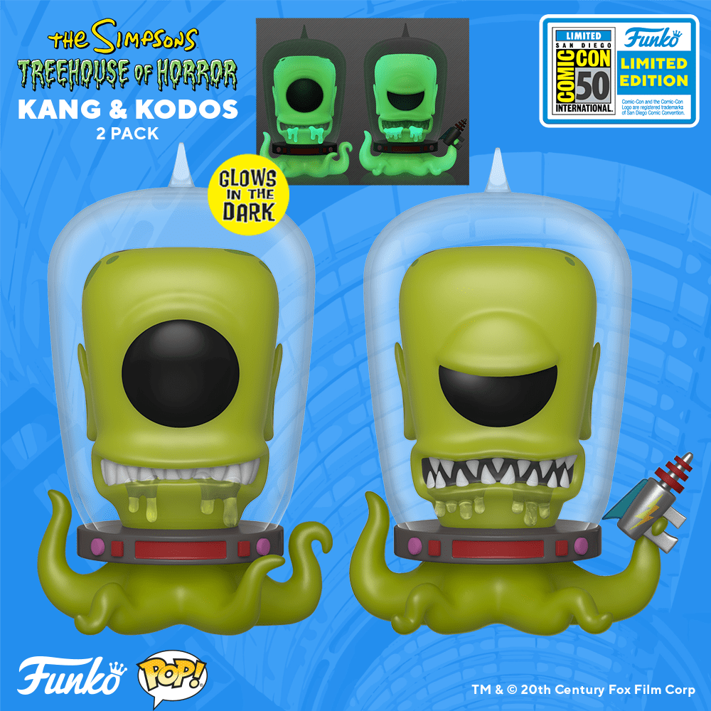 The Simpsons Funko POP! - Kang and Kodos double pack San Diego Comic-Con 2019 SDCC2019