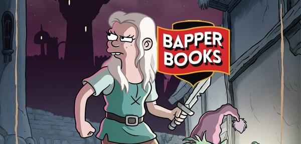 El logo de Bapper Books en la portada de Disenchantment: Untold Tales