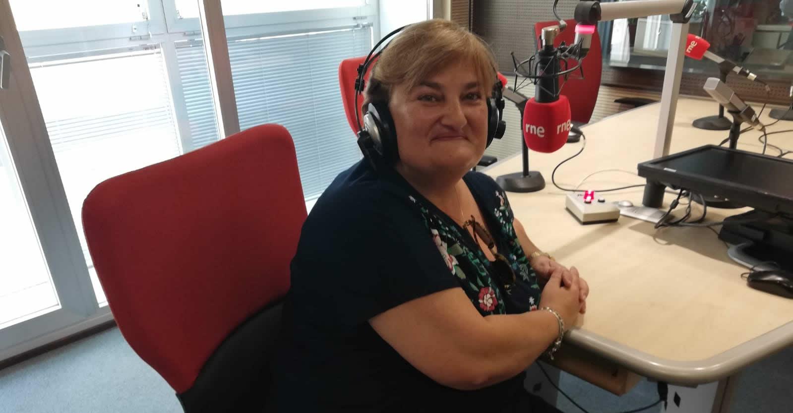 """Sara Vivas, la voz de Bart en España, en una entrevista a """"Patio de Voces"""" de RNE."""