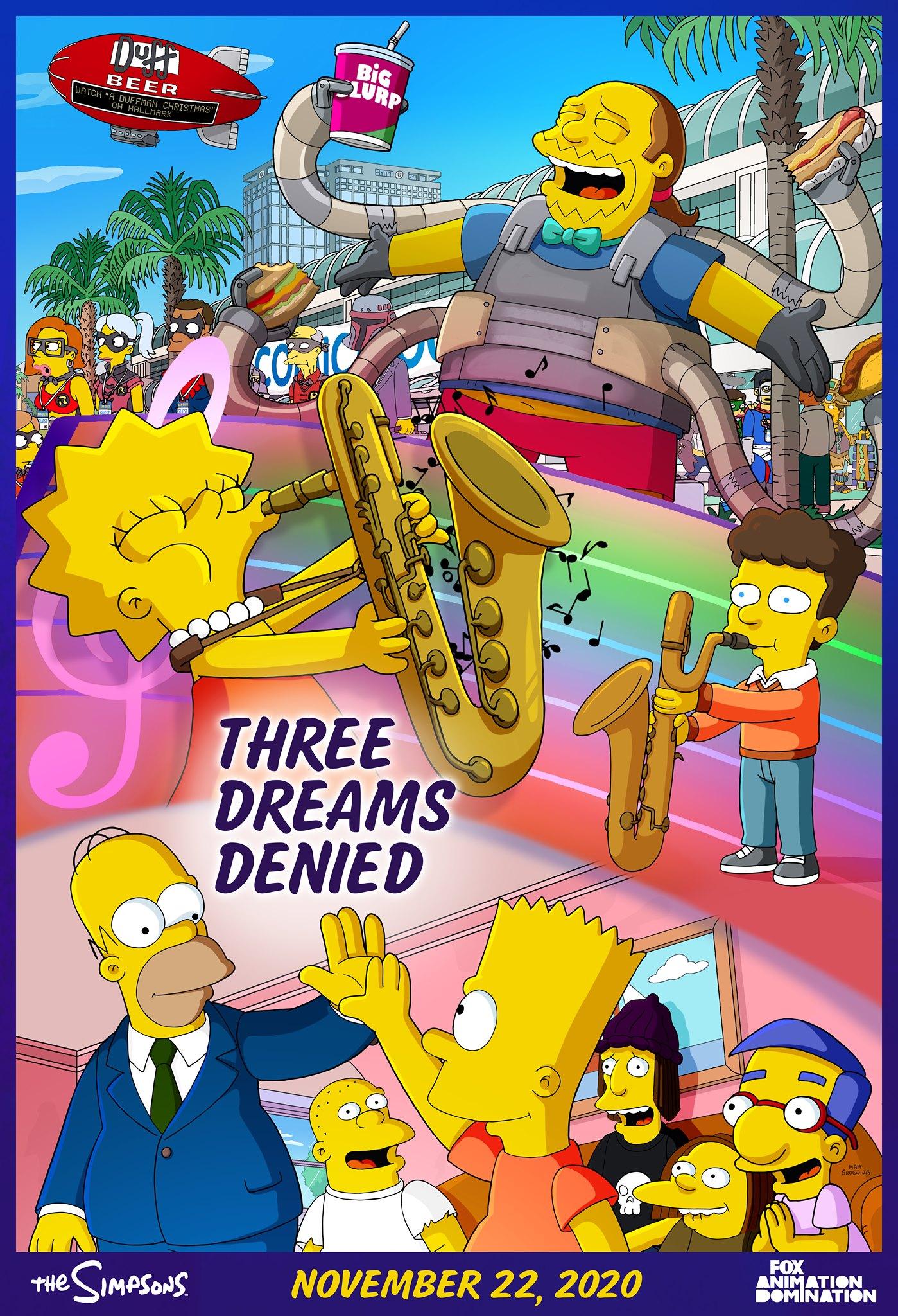 Los Simpson - Temporada 32 - Three Dreams Denied