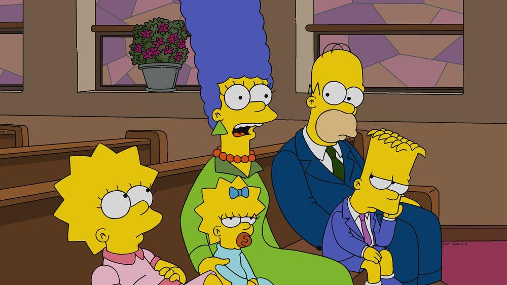 """Imagen promocional de la temporada 31 de Los Simpson: """"Warrin' Priests: Part One"""""""