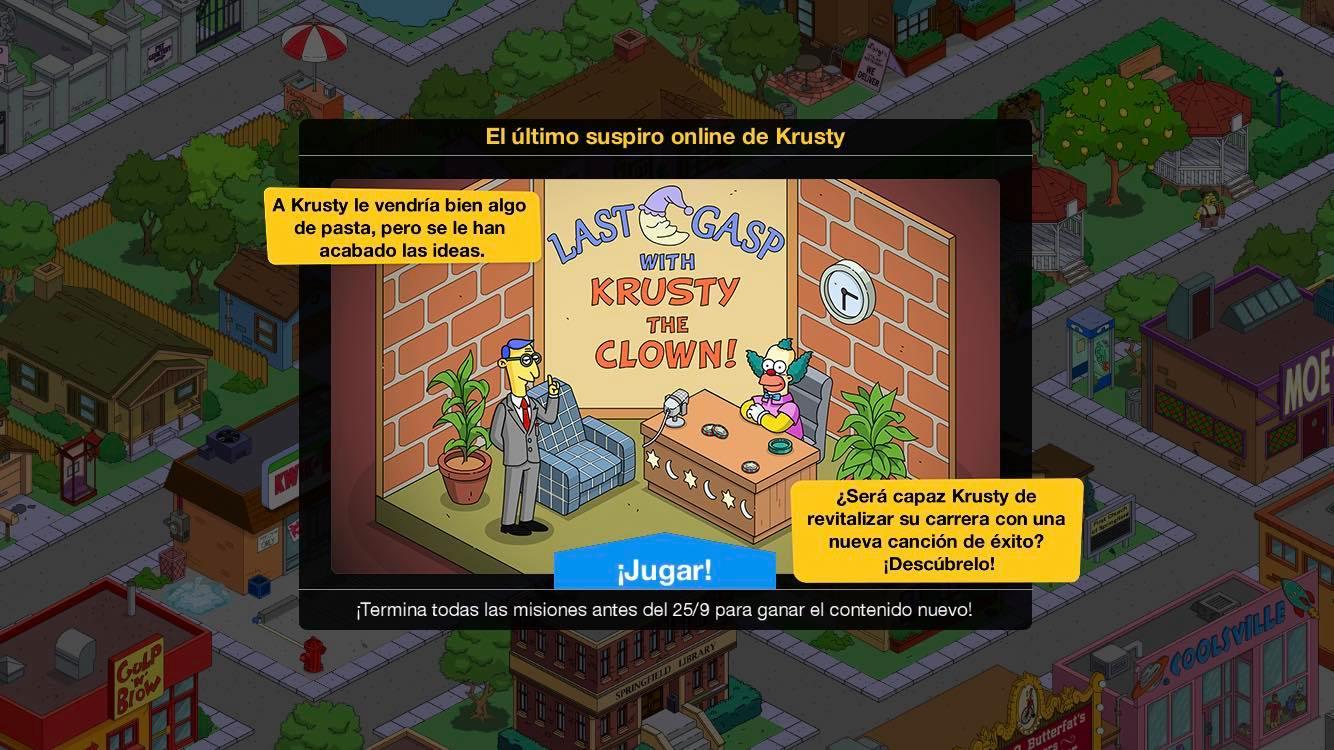Los Simpson: Springfield - El último suspiro online de Krusty