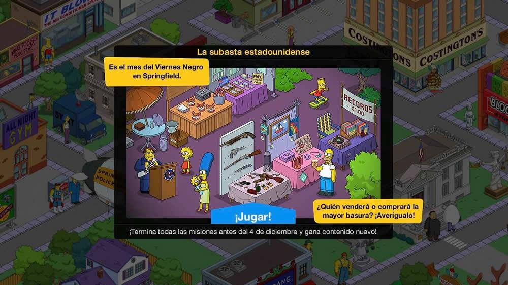 Los Simpson: Springfield - La subasta estadounidense