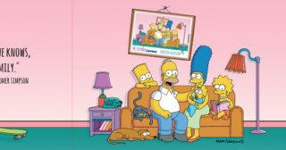 Correos emite en España un sello homenaje a Los Simpson