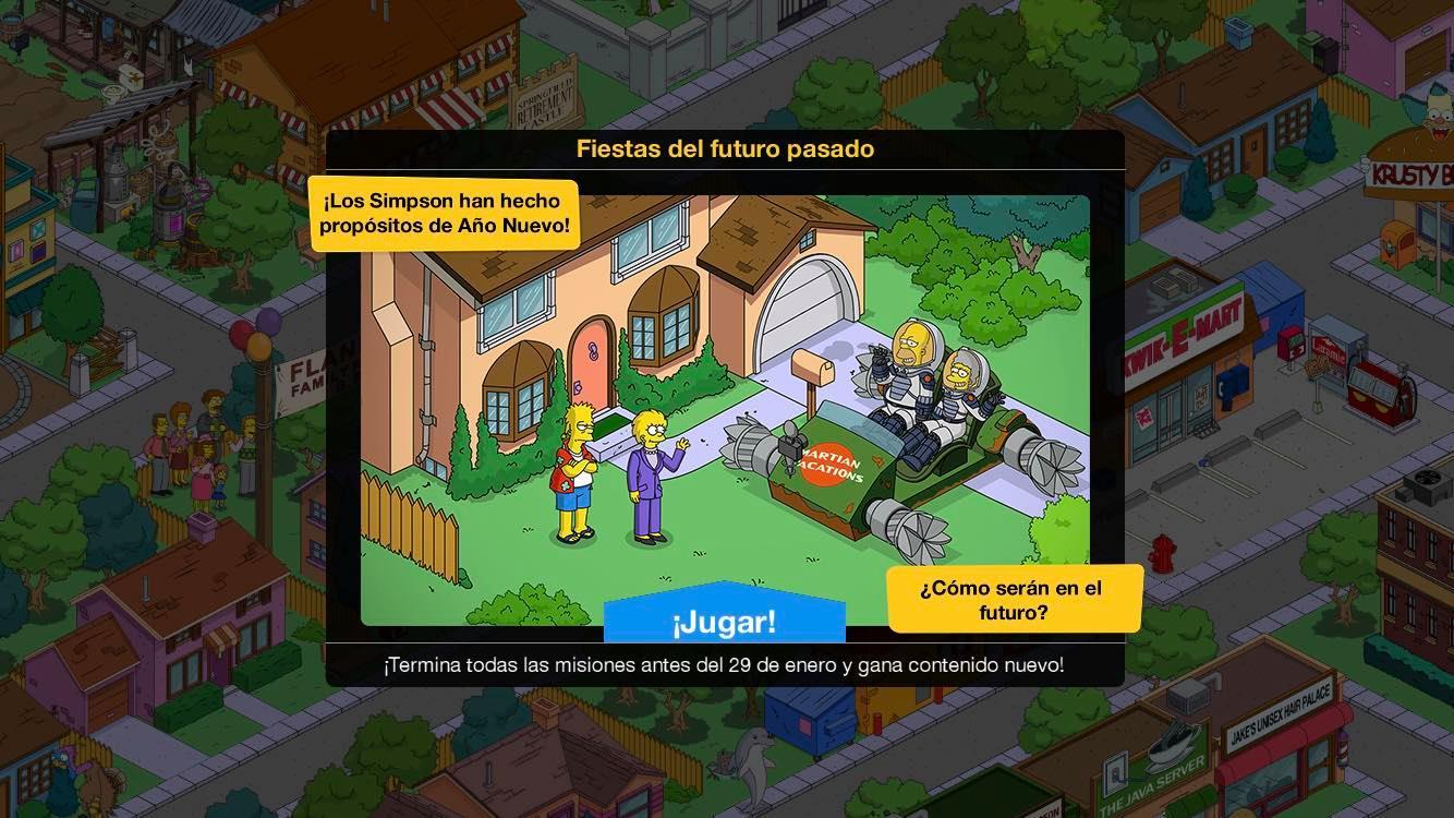 Minievento en Los Simpson: Springfield - Fiestas del futuro pasado