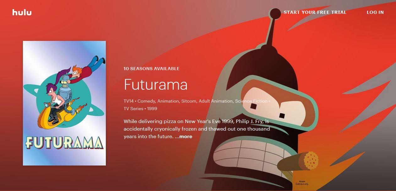 Futurama en Hulu