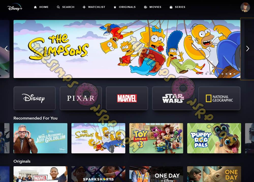 Los Simpson en Disney+ España