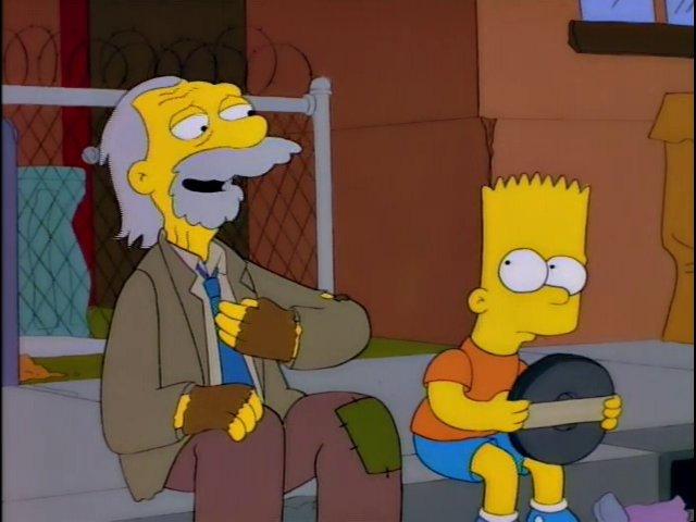 Chester J. Lampwick (Kirk Douglas) habla con Bart