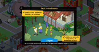 Nuevo minievento en Los Simpson: Springfield - Buck no me importa