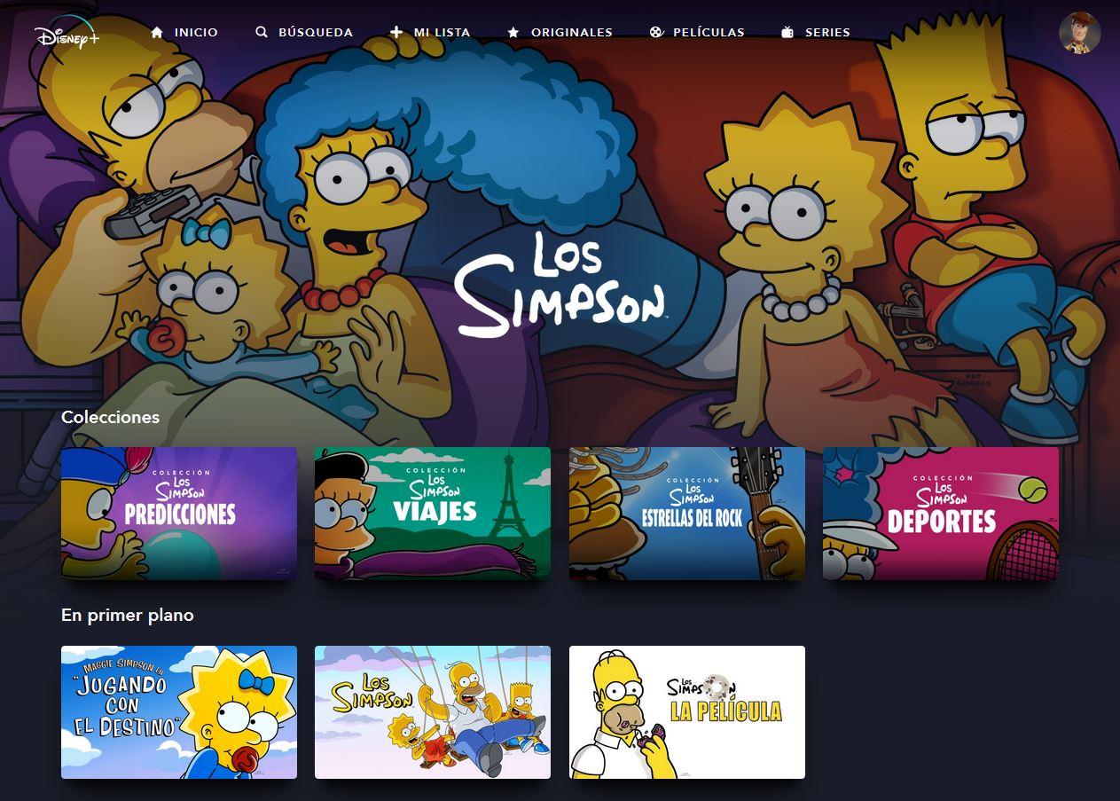 Los Simpson Colección en Disney+