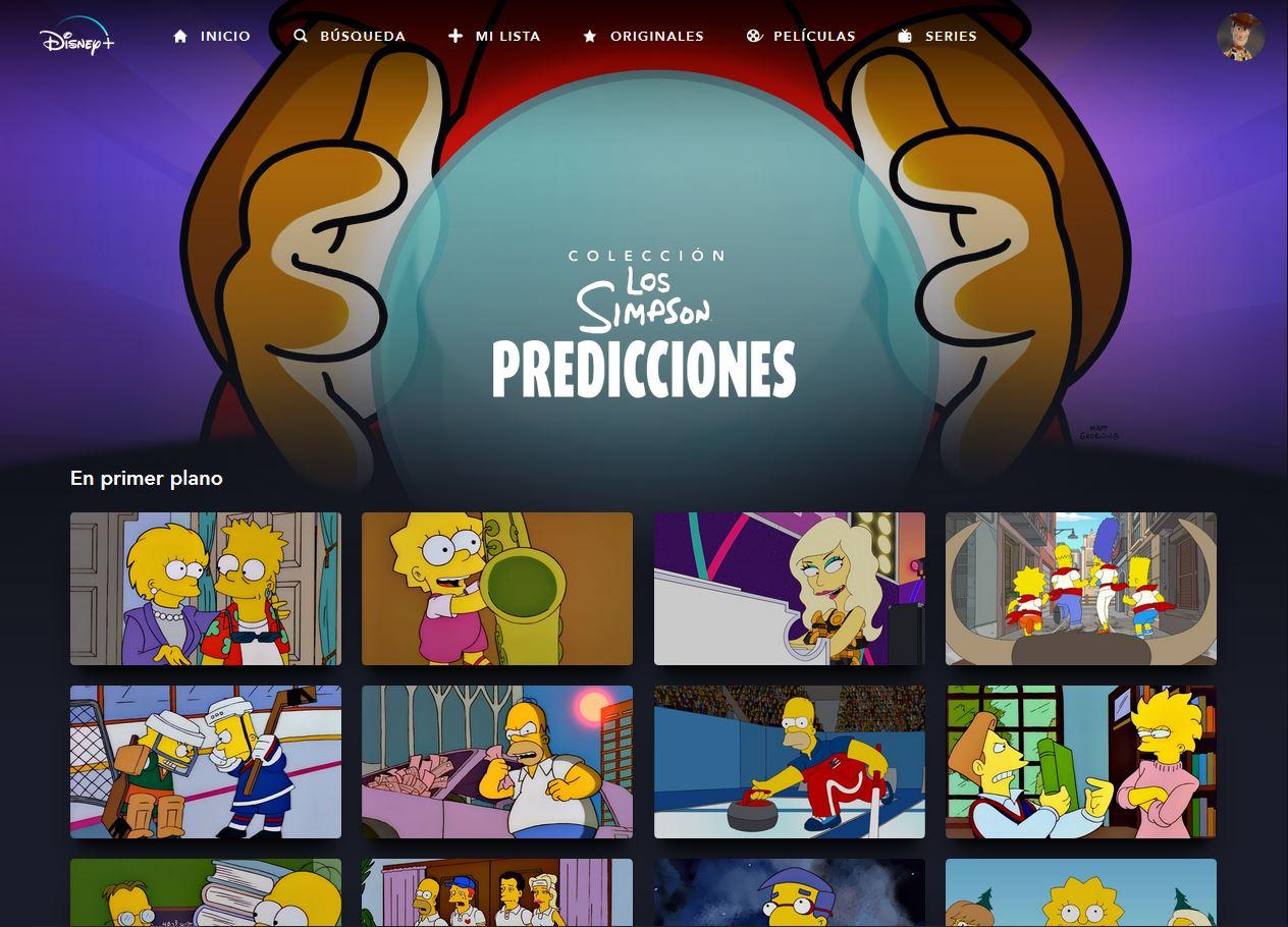 Los Simpson Colección: Predicciones en Disney+