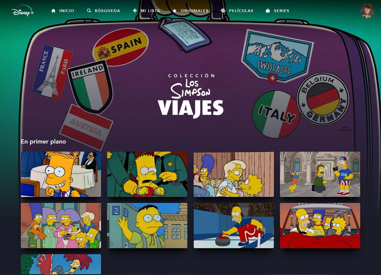 Los Simpson Colección: Viajes en Disney+