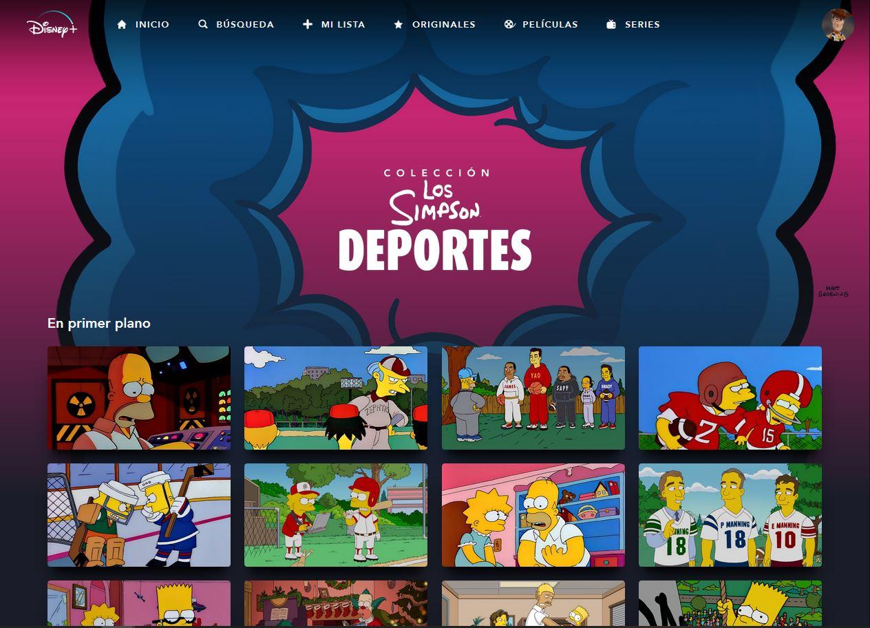 Los Simpson Colección: Deportes en Disney+