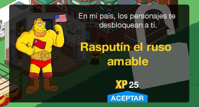 Los Simpson: Springfield - Rasputín el ruso amable